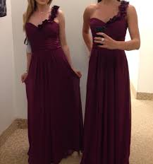 show me your bordeaux burgundy and wine colored bridesmaid