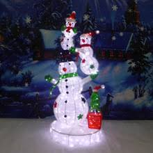 Outdoor Lighted Snowman Buy 4 Lighted 3 D Snowman With Top Hat And Twig Arms Outdoor