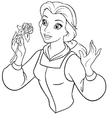 beauty beast belle hold sprig flowers beauty