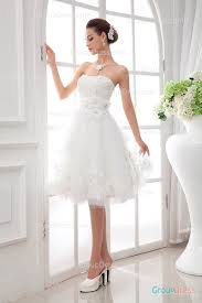 chic 2015 strapless sweetheart lace embroidered short tulle