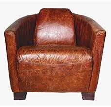Cigar Lounge Chairs Art Deco Leather Armchair Ebony Leather Cigar Brown Club