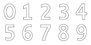 numbers 0 9 coloring page free clip art