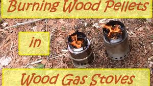 burning wood pellets in wood gas stoves youtube