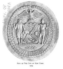 The Flag Of New York Nyc Heraldry Old Seal New Seal City Of New York
