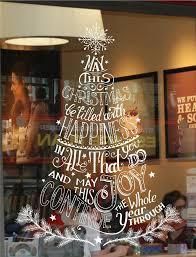 christmas tree window wall display sticker decoration business