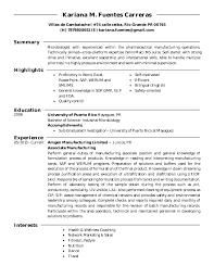 Microbiologist Sample Resume by Resume Of Microbiologist Corpedo Com