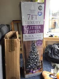 7ft luxury glitter tipped black tree in norwich