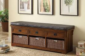 bedroom outstanding storage bench for long ottoman with padded