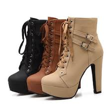 s heeled boots uk s high heel lace up shoes synthetic leather platform boots