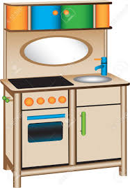 pretend kitchen furniture toy kitchen royalty free cliparts vectors and stock illustration
