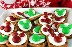 christmas mickey mouse pretzel bites two sisters crafting