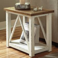 signature design by ashley marshone rectangle end table u0026 reviews