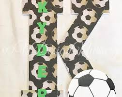 soccer decor etsy