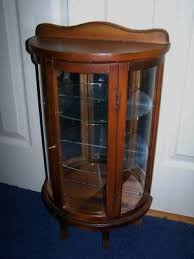 antique curio cabinet with curved glass antique curio china cabinet curved glass incredible intended for 10