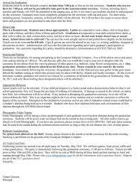 graduation information parent graduation letter