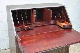 Drop Front Secretary Desk by Antique Drop Front Secretary Desk With Hutch Antique Furniture
