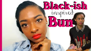 black women with 29 peice hairstyle black ish inspired zoey bun natural hairstyles for black women