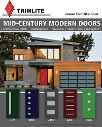 Modern Doors Mid Century Modern Doors Trimlite