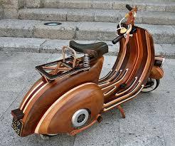 custom wood vespa dudeiwantthat