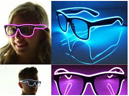 safety glasses for led lights el wire glow sun glasses led dj bright light safety light up