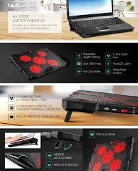 amazon com havit 5 fans laptop cooling pad for 14 17 inch laptop