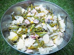 cuisiner salicorne salade de pommes de terre aux harengs fumés salicornes citron