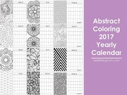 abstract coloring 2017 calendar free printable redefining mom