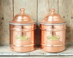 copper kitchen canister sets 93 best copper kitchen pantry storage images on