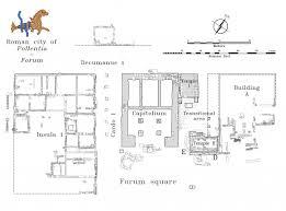 roman insula floor plan the small temples in the forum of pollentia mallorca balearic islands