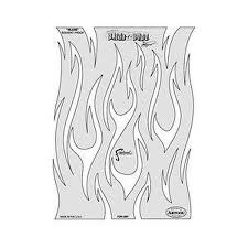 artool freehand airbrush templates flame o u0026rama slash