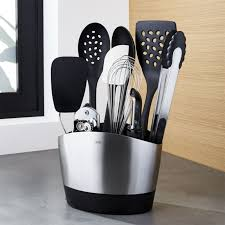 kitchen utensil canister kitchen utensil crocks crate and barrel