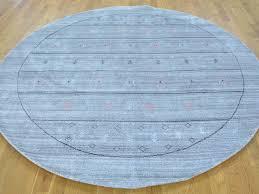 Round Rugs Modern by 7 U0027 X 7 U0027 Round Hand Loomed Modern Gabbeh Wool And Silk Oriental Rug