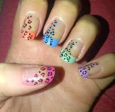 pink leopard nail designs