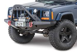 jeep prerunner 1984 2001 cherokee xj jeep bumpers towing racks quadratec