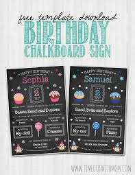 birthday chalkboard birthday chalkboard sign template and tutorial