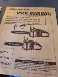100 mcculloch manual vintage chainsaw collection mcculloch
