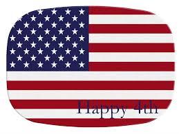 personalized melamine platter m2718 american flag personalized melamine plate platter