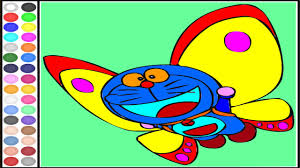 free doraemon butterfly coloring art games painting games for