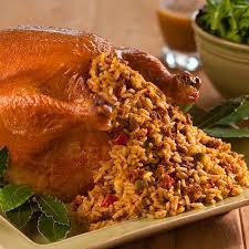 stuffed turkeys roast turkey stuffed with creole rice dressing zatarain s