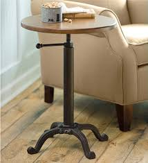 adjustable height end table cool side accent table round side table with adjustable height