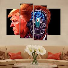 aliexpress com buy 4 pieces donald trump poster wall art picture