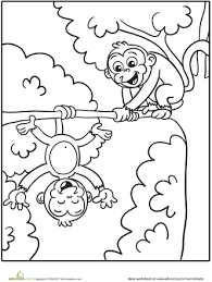 silly monkeys coloring worksheets monkey zoos