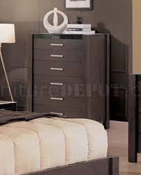 piece wenge bedroom set with leather upholstered headboard
