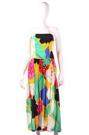 coloured dress gail hoppen silk designer multi coloured strapless dress iva