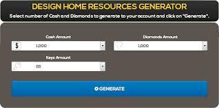 design home hack cash diamonds and keys generator game bag