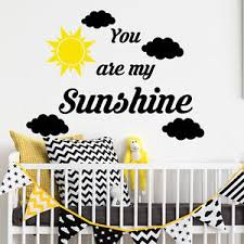 Wall Decal Letters For Nursery You Are My Wall Decal Cloud Decal Vinyl Letters Nursery