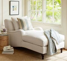 Upholstered Chaise Lounge Carlisle Upholstered Chaise Pottery Barn