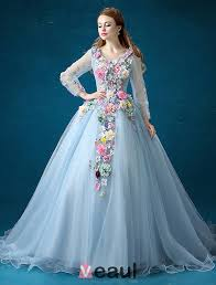 flower fairy dress 2016 long sleeves backless handmade colorful