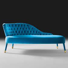 chaise turquoise button upholstered designer velvet chaise longue juliettes