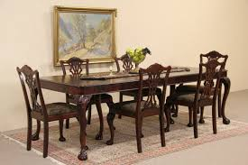 dining room sets 6 chairs sold georgian style 1940 u0027s mahogany dining set table 6 chairs